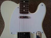WHITE Fender Telecaster Pickguard 5 Hole 52 58 50s Vintage Pick Guard Scratchplate Tele Genuine