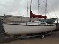 "18' GRP Trailer sailer, ""Impulse 560"" Profiled GRP drop keel."