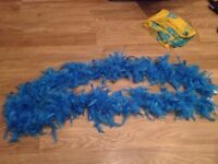 Blue feather boa