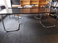 Chrome and Ash effect wood Conference Table.