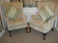 Pair wing back chair (Parker knoll ? ) unused from new