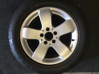"""Mercedes 16""""alloy wheel and tyre for sale only got one £75 call 07860431401"""