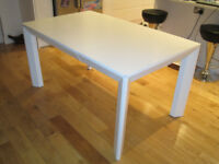 Dwell White Dining Table - extendable - orignally £600