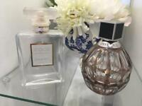 Chanel and Jimmy Choo Perfume Bottles