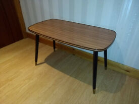 Vintage MCM Trapeze Hanish Table - Mid Century Modern Formica Coffee Serving Side Kitchen