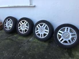 Alloy wheels x4. 16in. VW