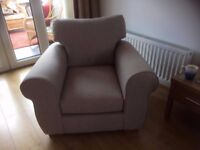 Next marsielle sofa and chair in french grey.
