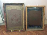 Silk screens for screenprinting
