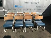12 Vintage stacking chairs