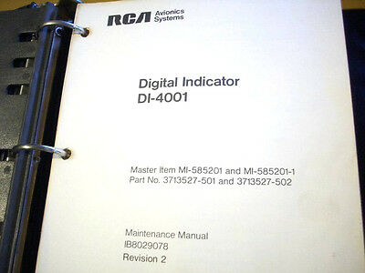 Service Indicator Manual - Digital Radar Indicator DI-4001 Service Manual