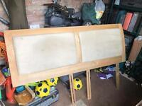 Solid oak super king headboard.
