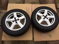 "Toyota Corolla Alloy Wheels 15"" Good tyres - A set of two"