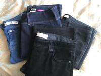 4 X Pairs Of Ladies Denims & Cords. Size 14 Long. £20