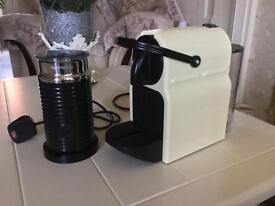NESPRESSO by Magimix Inissia Coffee Machine - Vanilla Cream