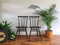 Vintage Ercol 391 Dining Chairs Mid Century