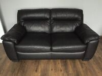 DFS Leather (upgarded) 2 Seater Sofa