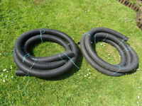 B and Q Floplast Land-drain, new, surplus to requirements.