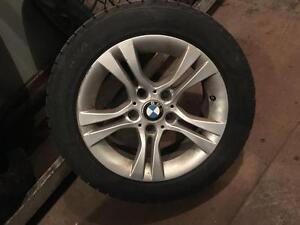 4 MAGS BMW AVEC PNEUS HIVER 205 55 16 BONNE CONDITION 10/32