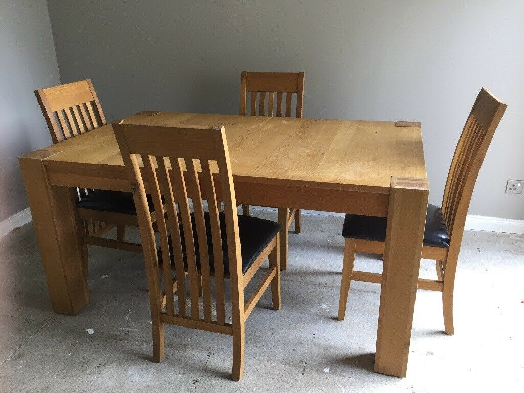 Excellent Solid Oak 4 8 Seater Extendable Dining Table And 8 Chairs In Inverness Highland Gumtree Inzonedesignstudio Interior Chair Design Inzonedesignstudiocom