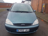 """02"" PLATE FORD GALAXY GHIA 16V, 7 SEATER, M.P.V. **2.3CC ** MOT FEBRUARY 2018**"
