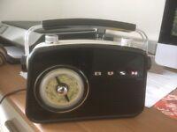 Bush Classic Retro Mini FM Radio - Black - Good as new