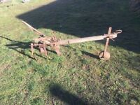 Agricultural Farm Plough Garden Decor Rustic Home Horse Work Field