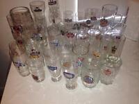 52 various beer glasses