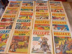 20 x valiant comics for boys c.1976