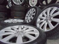 "17"" genuine b8 alloys wheels audi a4 a6 a5 a8 a3 5x112 golf vw caddy t4 t3 s line"