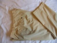 Mens Yellow M&S Blue Harbour Chinos 36R