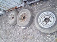 3 trailer wheels