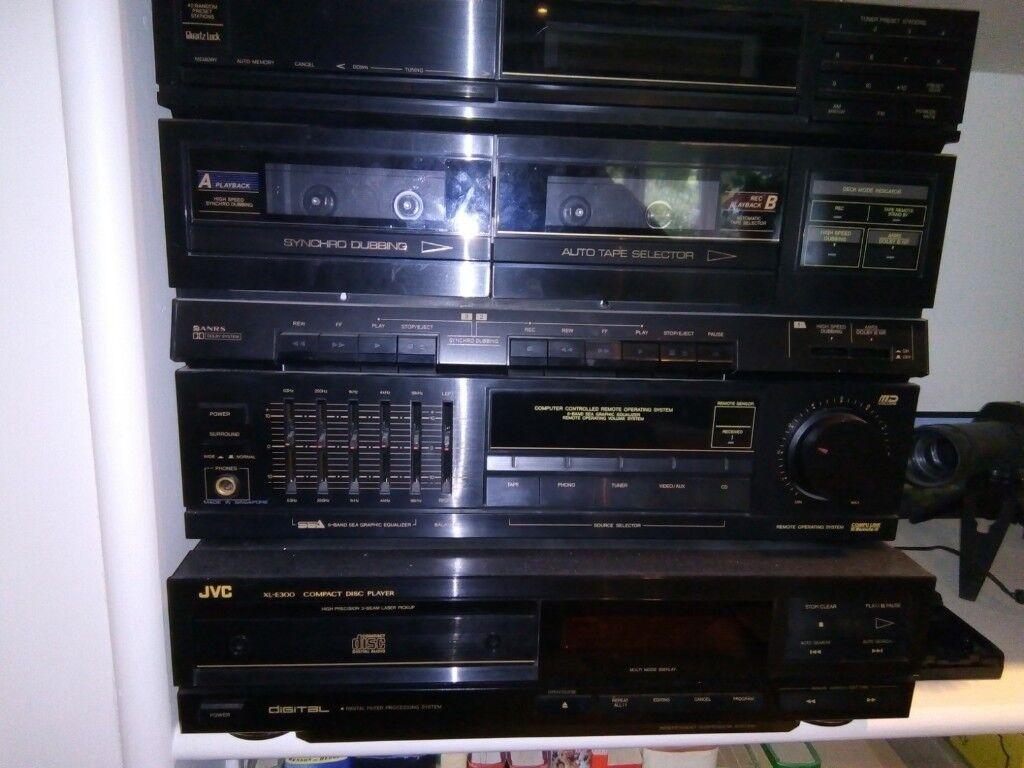 jvc hi fi stereo system dr e300bk dr e300lbk with cd. Black Bedroom Furniture Sets. Home Design Ideas