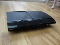 SUPER SLIM SONY PLAYSTATION 3 with GAMES and CONTROLLERS