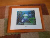 Framed Golf themed childrens prints