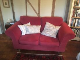 Two seater sofa with removable washable covers