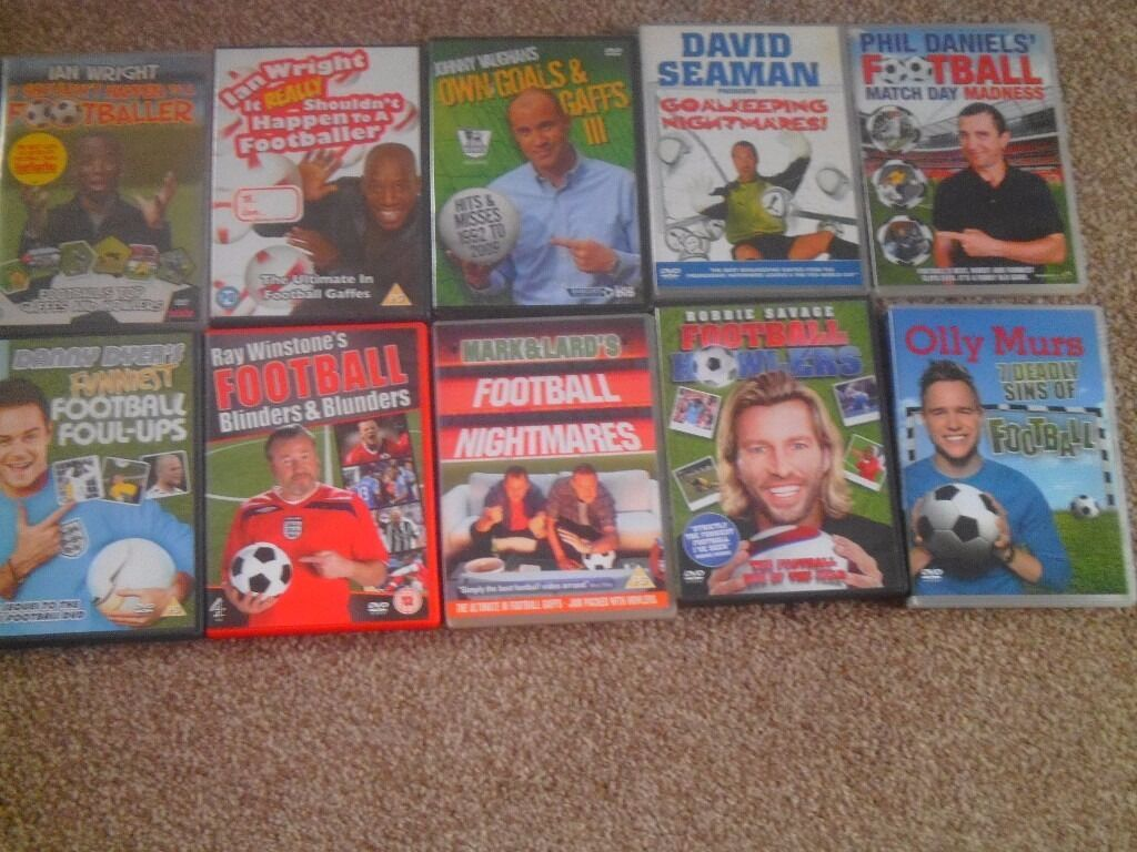 football dvds funny clips blunders own goals etc in 10 football dvds funny clips blunders own goals etc