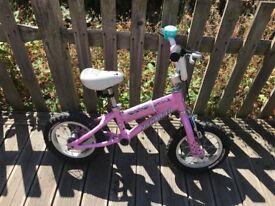 Girls Pink Specialized Balance Bike - 12 inch £20