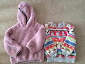 Cosy winter jumpers 2-3 years