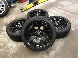 "18"" Matt Black Wheels 5x112 and Winter Tires 245/40R18 (Audi Cars) Calgary Alberta Preview"