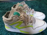 Reebok Trainers, UK size 12, which and green colour