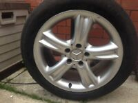 Mercedes clk alloy wheel and tyre