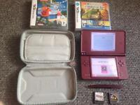 Dsi xl with case and games