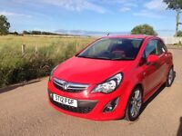 **FOR SALE, EXCELLENT CONDITION VERY LOW MILEAGE 2012 CORSA SRI 1.4 RED**