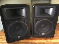 Yamaha S115V PA Speakers (Pair) - (max (RMS) output power 1000w) - mint condition!