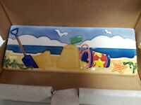 NEW Original Style Bathroom Tiles La Belle Hand Painted Seaside Collection Tiles - Border Tiles