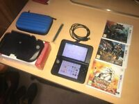 Nintendo 3DS XL + Circle Pad Pro - Blue - Access To All Games for Free!!