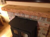 BEAM MANTLE for a stove BELFAST NEWCASTLE can deliver if needed pitch pine oak