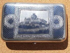 Fabulous Hallmarked 1883 Silver Niello Cigarette Case