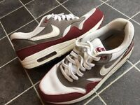 Nike Air max 1 UK 7 used condition white and burgundy cheap