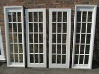 Glass Panelled Doors And Partitions Very Good Condition Sussex